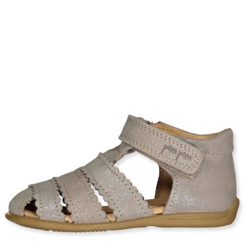 Starter Sandal Pom Pom Glitter Silver