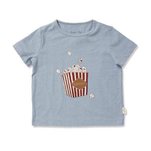 Konges Sløjd T shirt Popcorn Blå