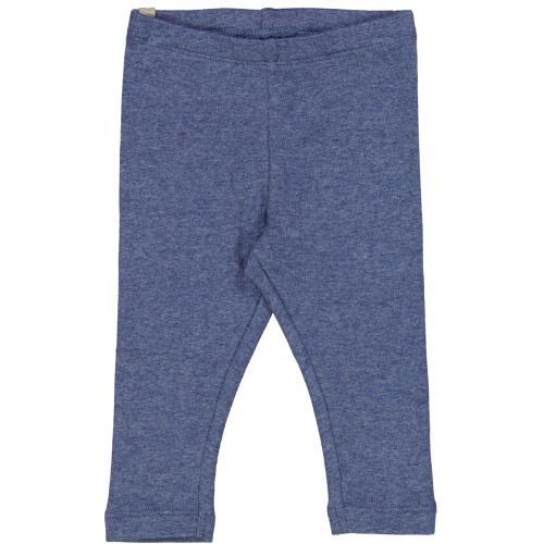 Leggings Rib Blue Melange Wheat
