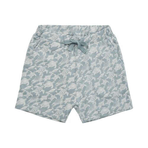 Shorts Turtle Dusty Blue Petit By Sofie Schnoor