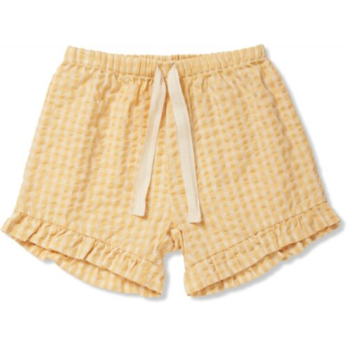 Konges Sløjd shorts Yellow Check Acacia