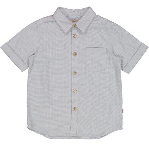 Kortærmet Skjorte Wheat Lyseblå