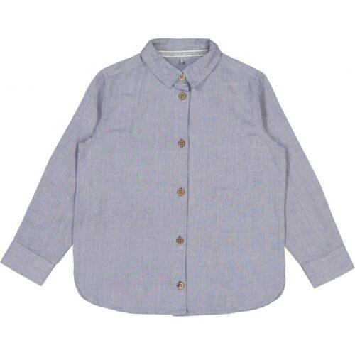 Wheat Langærmet Skjorte Blå