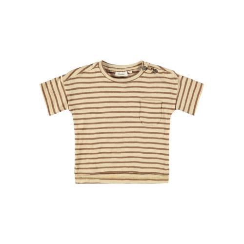 T shirt Lil Atelier Stribet Brun Eddy