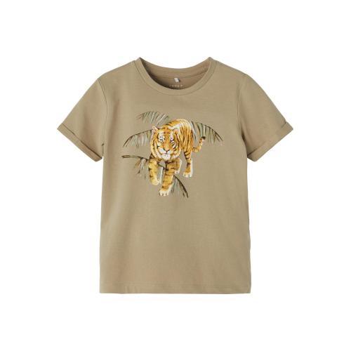 Name It T shirt Tiger Grøn