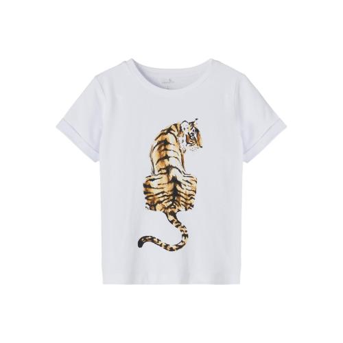 Name It T shirt Tiger Hvid