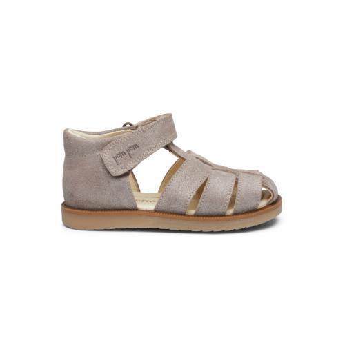 Sandal Pom Pom Glitter Silver
