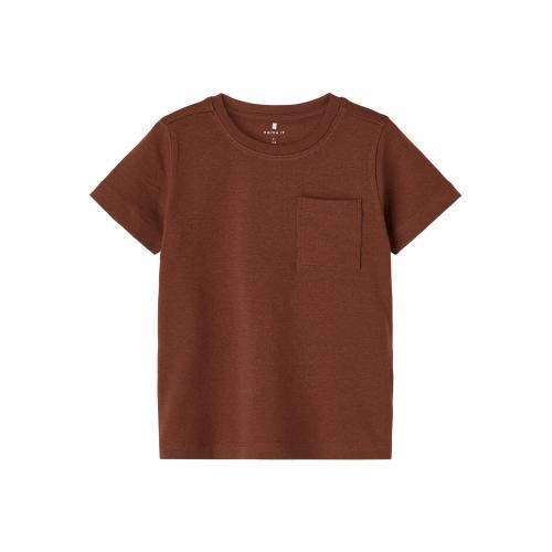 T-shirt Name It Mørk rødbrun